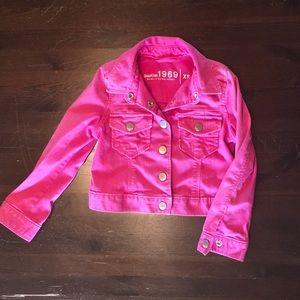 Gap Kids Cropped Pink Jean Jacket Size 4-5 yrs
